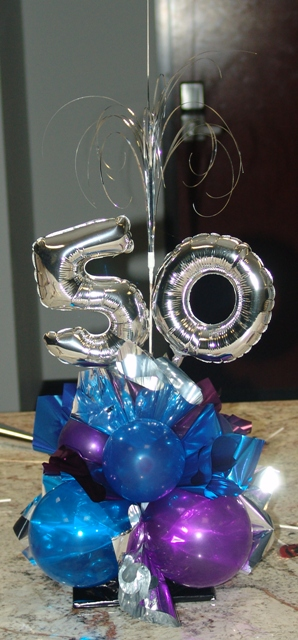 Birthday Party Table Centerpieces. 50th birthday party decoration