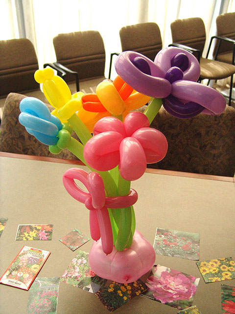 Balloon flower centerpieces the printer