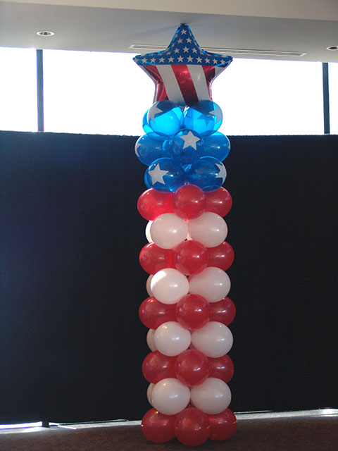 red-white-blue-balloon-column