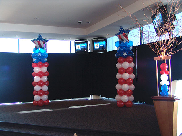 red-white-blue-balloon-columns