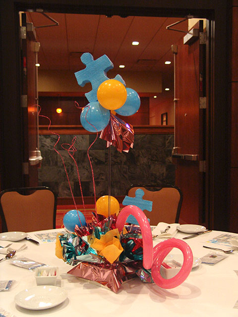 Autism Speaks Centerpieces