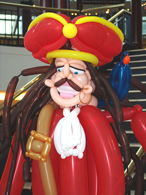 Balloon Pirate sculpture