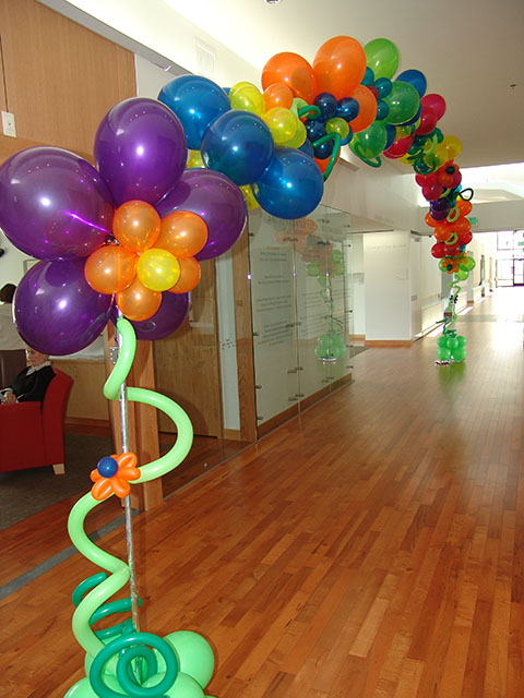 custom balloon flower arch
