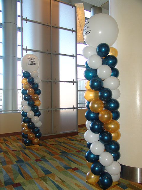 Custom topped balloon columns2