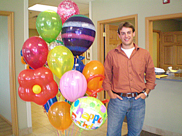 Birthday balloon bouquet delivery brings smiles! Balloons in Denver