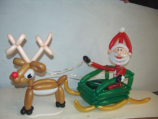 Santa Balloons Christmas