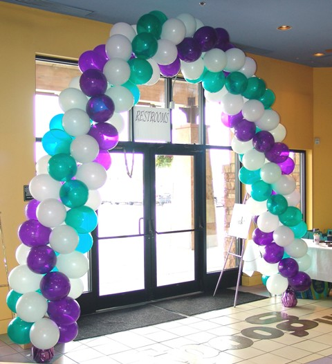 3 Color Spiral Balloon Arch Denver