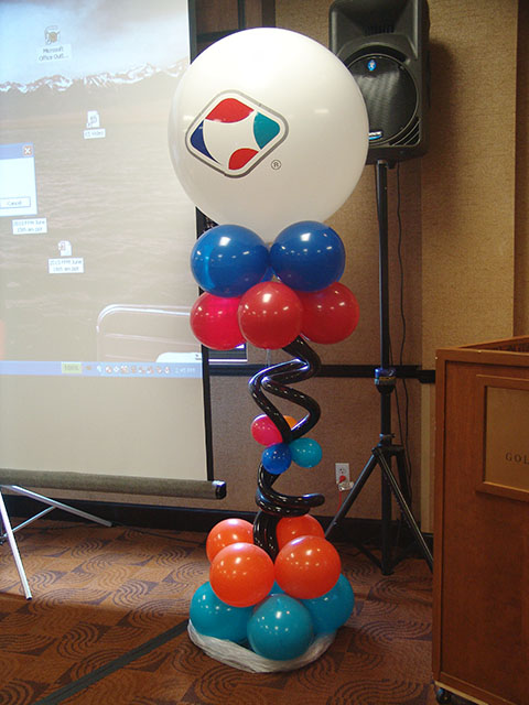 custom logo balloon pillar denver