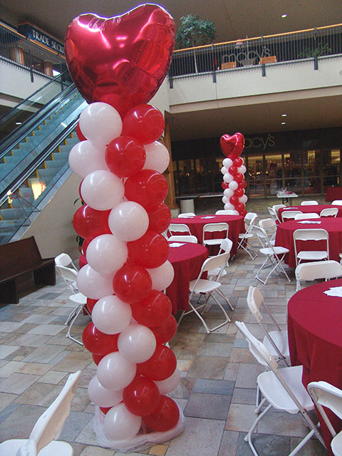 Valentines Day Balloon Columns Denver