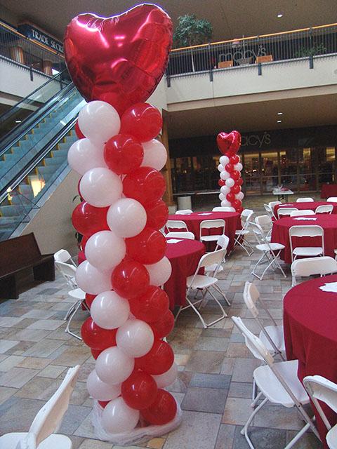 Valentines Day Balloon Columns Denver