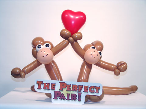 balloon monkeys valentines day delivery denver