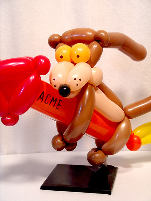 wile e coyote balloon centerpieces denver