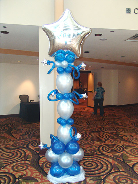 1000 images about balloon columns pillars decoration on for Balloon column decoration