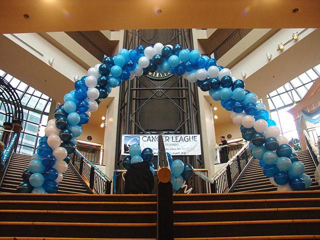 Cancer League Denver balloon arch