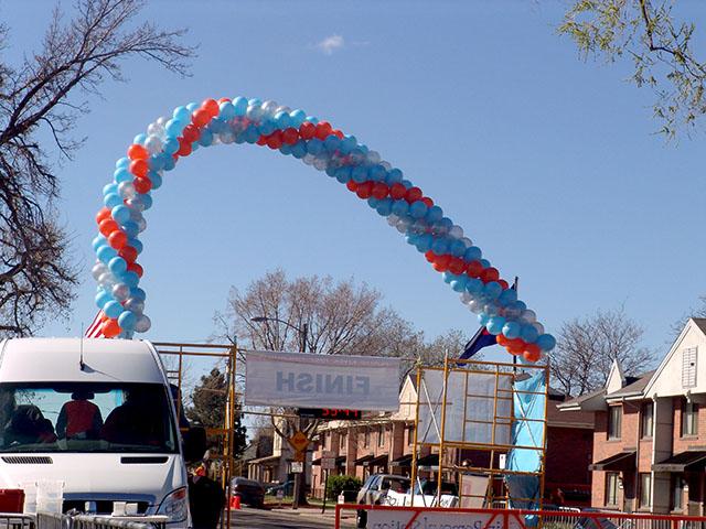 special walk run balloon arch denver