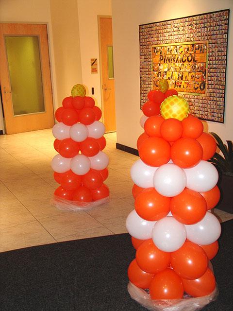 Balloon Construction Barriers Sculptures