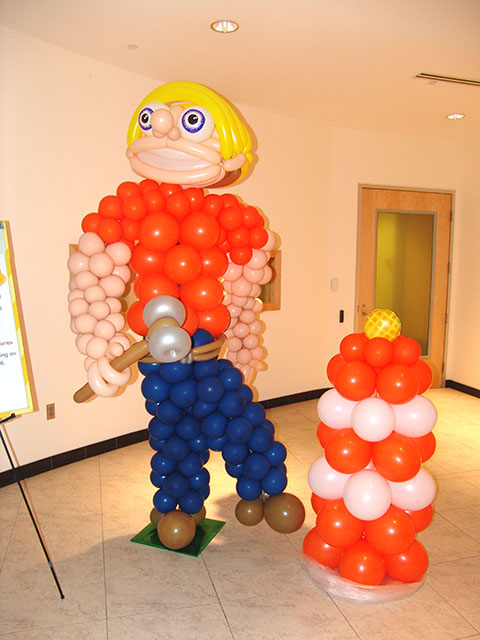 Balloon Construction Worker Sculpture