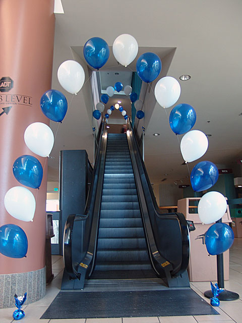 balloon arch pepsi center denver