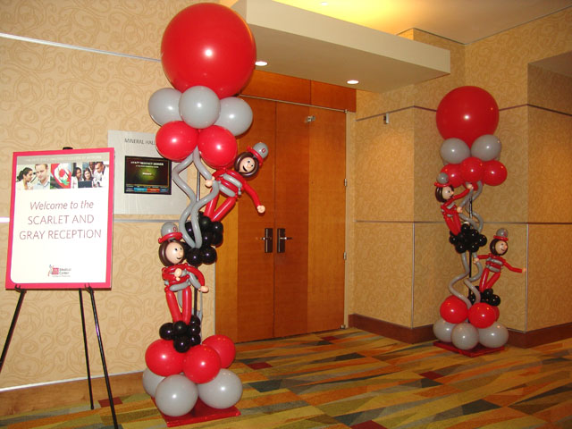 ohio buckeyes balloon decorations denver