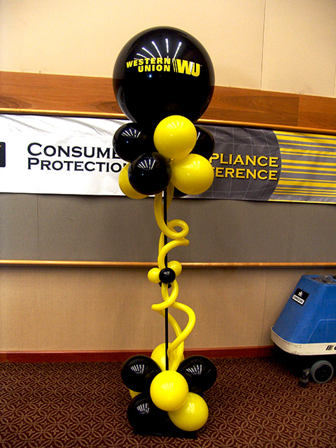 western union new logo balloons denver