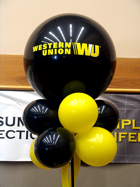 western union new logo balloons