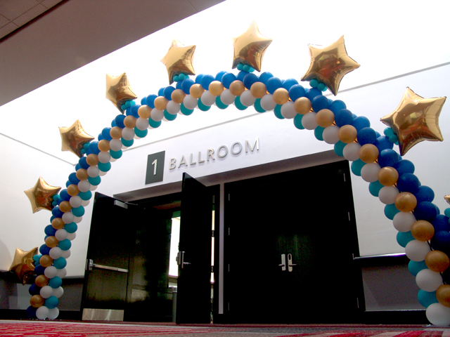custom balloon arch Denver Convention Center