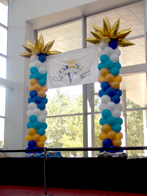 custom large banner balloons Denver Convention Center